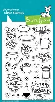 Lawn Fawn - Clear Stamps - Love You a Latte