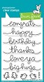 **PRE-ORDER**  Lawn Fawn - Clear Stamps - Big Scripty Words