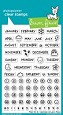 **PRE-ORDER**  Lawn Fawn - Clear Stamps - Plan on It: Calendar