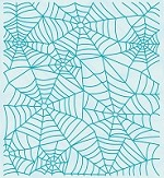 Leane Creatif - LeaCrea Design Embossing Folder - Background Spider Web (6