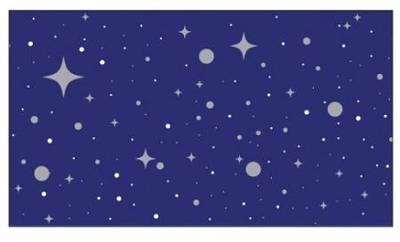 Little B - Foil Tape - (25mm x 10m) - Silver Starry Night