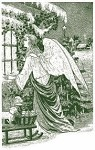 Magenta-Cling Stamp-Christmas Angel