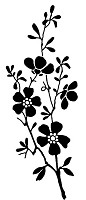 Magenta - Cling Rubber Stamp - Small Flower Branch