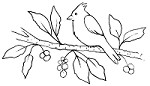 Magenta - Cling Rubber Stamp - Cardinal on Branch