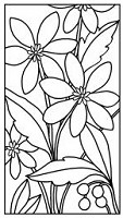 Magenta - Cling Rubber Stamp - Verticle Flower Tile