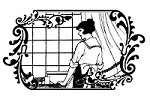 Magenta - Cling Rubber Stamp - Woman at Window