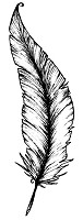 Magenta - Cling Rubber Stamp - Large Feather