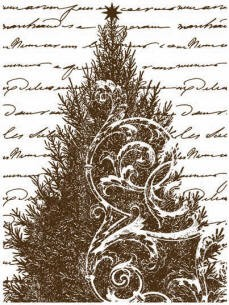 Magenta-Cling Stamp-Christmas Tree Collage
