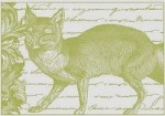 Magenta-Cling Stamp-Elegant Fox Collage