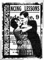 Magenta-Cling Stamp-Dancing Lessons