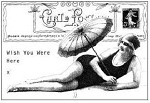 Magenta-Cling Stamp-Bathing Beauty