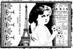 Magenta-Cling Stamp-Child in Paris Collage