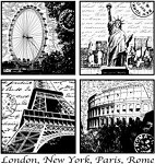 Magenta-Cling Stamp-World Travel