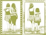 Magenta-Cling Stamp-Beach Friends