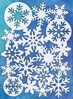 "Magenta - 5""x7"" Template - Mask Snowflakes"