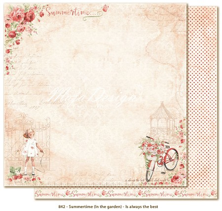 "Maja Design - Summertime Collection - 12""x12"" Double Sided Cardstock - Is Always The Best"