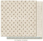 "Maja Design - Vintage Baby Collection - 12""x12"" Double Sided Cardstock - First Teddy Bear"