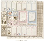 "Maja Design - Vintage Baby Collection - 12""x12"" Double Sided Cardstock - Die Cuts (not pre-cut)"