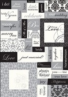 Making Memories - Wedding Collection - Stickers - Pearl Word