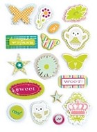Making Memories - Just Chillin' Collection - Layered Chipboard Stickers