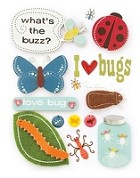 Making Memories - Design Shop Collection - 3 Dimensional Stickers - Bugs