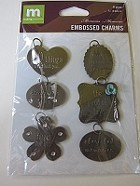Making Memories - Embossed Charms - Memories