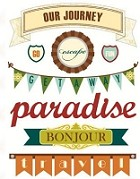 Making Memories - Ponorama Collection - Stickers - Pennants