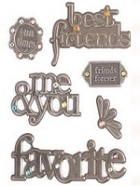 Making Memories - Embossed Metal Charms - Antique Silver Friendship
