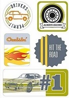 Making Memories - Moxie Fab Stickers - Cruisin'