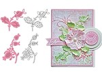 Marianne - Collectables Die and Clear Stamp Set - Flowers & Leaf 2