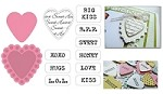 Marianne - Collectables Die and Clear Stamp Set - Candy Hearts