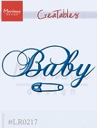 Marianne Design - Creatables Die - Baby Text and Safety Pin