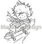 Marianne Design - Clear Stamp - Don & Daisy - Skating Don