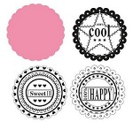 Marianne Collectables - Die and Clear Stamp Set - Scallop Circle