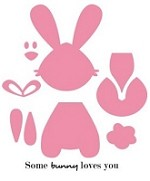 Marianne Collectables Die & Clear Stamp Set - Bunny