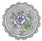 Marianne Design - Cling Stamp - Rose with Lace Border