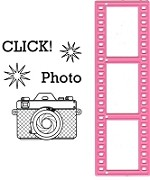 Marianne - Collectables Die - Filmstrip Die and Camera stamps