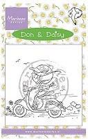 Marianne Design - Clear Stamp - Don & Daisy - Scooting Daisy