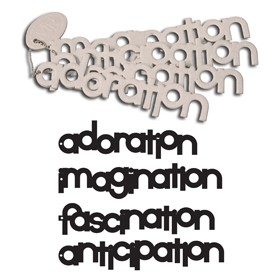 Maya Road - Keychain Chipboard - Fascination