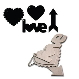 Maya Road - Keychain Chipboard - Love