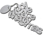 Maya Road - Keychain Chipboard - Christmas Words
