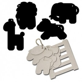 Maya Road - Keychain Chipboard - Zoo