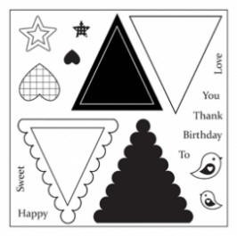 Maya Road Singleton Clear Stamps - Triangle Banner
