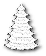 Memory Box - Die - Frosted Spruce Tree