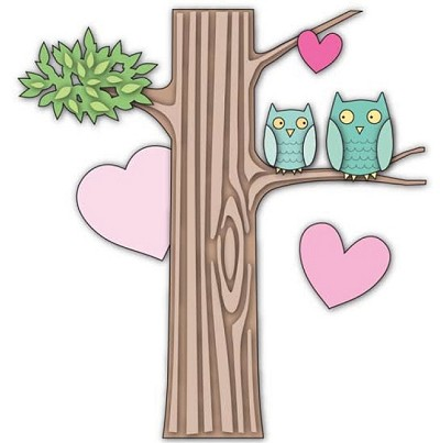 Memory Box - Die - Owl Heart Tree