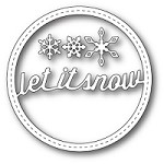 Memory Box - Die - Stitched Let It Snow Circle Frame