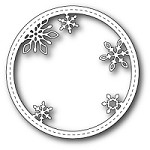 Memory Box - Die - Stitched Snowflake Circle Frame