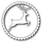 Memory Box - Die - Reindeer Scalloped Circle Frame