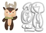 Memory Box - Die - Plush Cute Reindeer