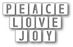 Memory Box - Die - Peace Love and Joy Tiles